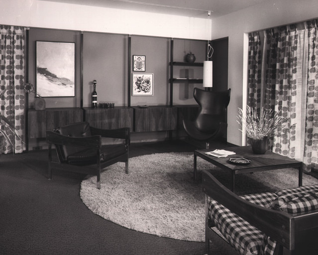 Habitat67 photo07 (intérieur salon 1968)