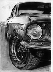 1967 Ford Mustang Drawings Ford Mustang 1967 Bullitt