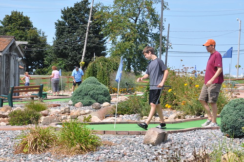 Benton and Tim on the Putt-Putt Course