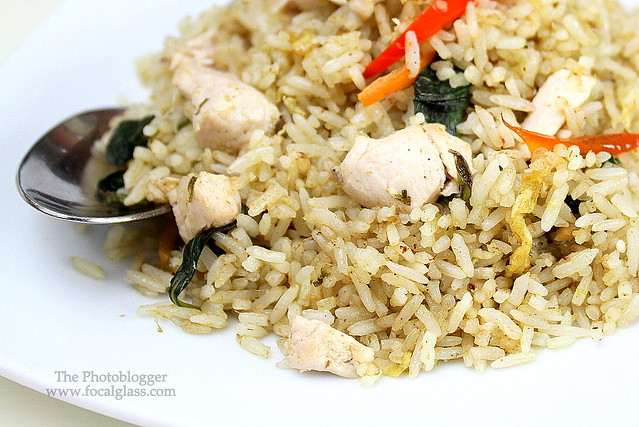 Green Curry Fried Rice with chicken
