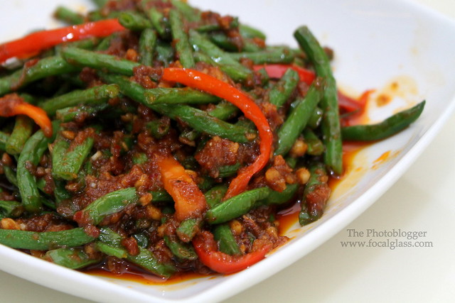 Siam string Beans in red curry