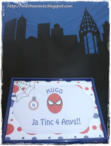 Lámina creativa2. Kit de fiesta spiderman. Merbo events