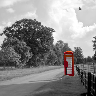 red telephone box, wimpole