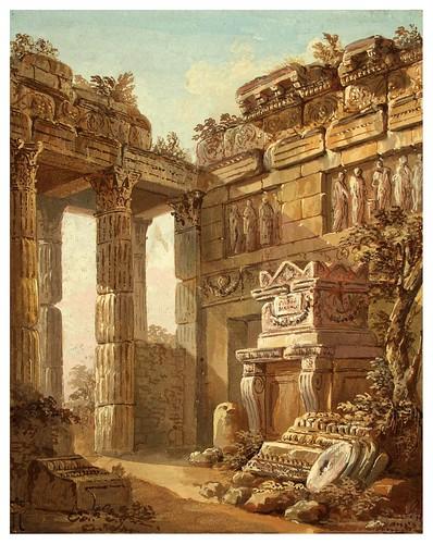 001-Fantasía arquitectónica- Charles-Louis Clérisseau- State Museum Hermitage