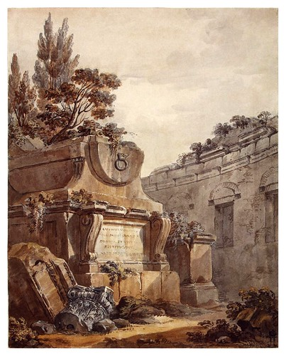 014-Fantasía arquitectónica- Charles-Louis Clérisseau- State Museum Hermitage