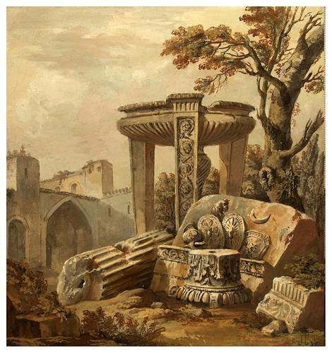 002-Fantasía arquitectónica- Charles-Louis Clérisseau- State Museum Hermitage