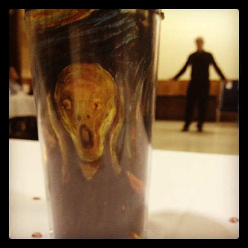 My crazy tea mug. #art #scream