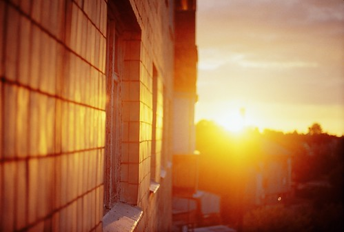 morning sun building film wall analog sunrise 35mm kiev19