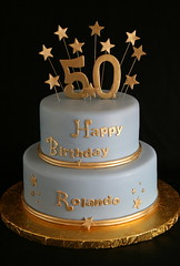 Birthday Cake Images For 50 Year Old Man : 50th Birthday Cake Gold and Blue Flickr - Photo Sharing!