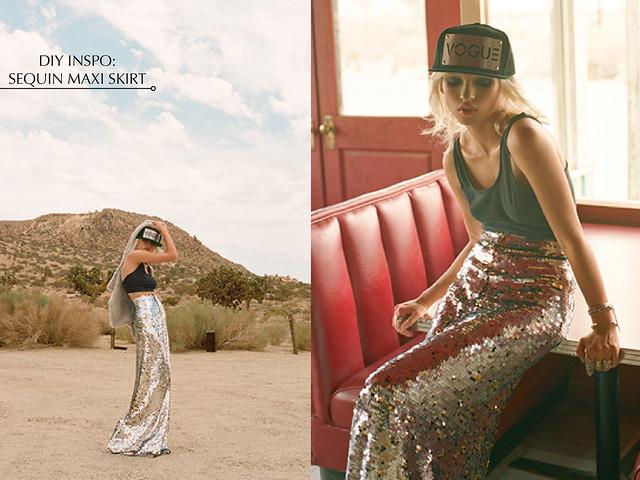 diy inspiration sequin maxi skirt flickr photo