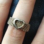 Tiffany Somerset heart ring from yard sale in Plainview