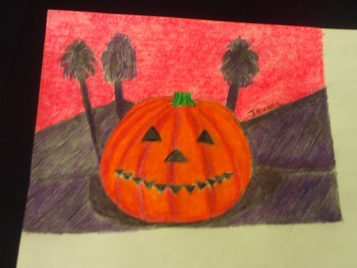 The Completed Jack o Lantern Drawing