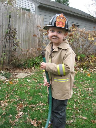 with a hose