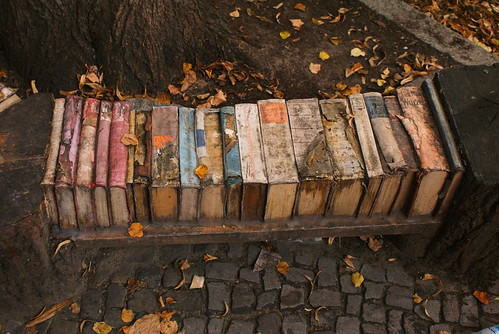 Bench made from Books