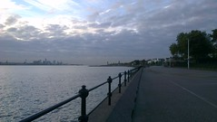 Liverpool from Vale Park Promenade Gates: Copyright 26th October, 2012 Kevin & Jane Moor