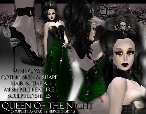 Queen of the night (green) by fierce designs