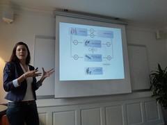 Cathrine Lippert presenting