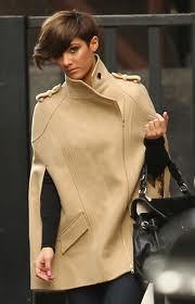 Frankie Sandford Cape Coat Celebrity Style Women's Fashion