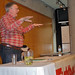 Small photo of Alan Woods speaking at York University, Toronto