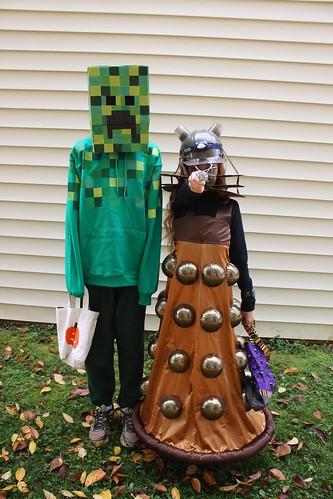 Creeper and Dalek & 3 Days of Halloween | Kristin La Flamme