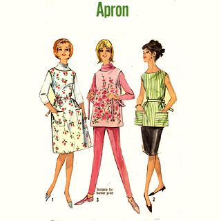 Aprons adjustable neck apron Sewing Pattern 2555 Simplicity