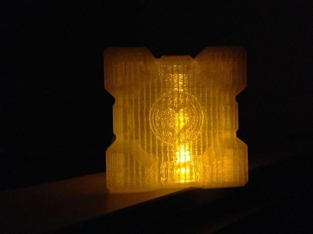 Glowy Companion Cube