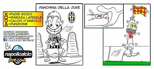Vignetta Catania - Juve ( del fuorigioco ) by Giuseppe Lombardi