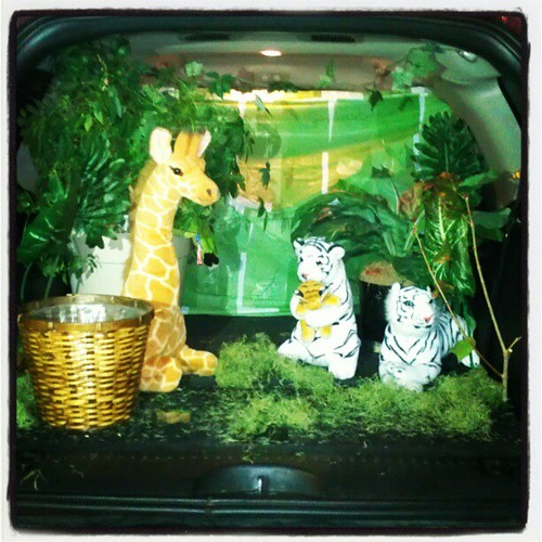 April and Danny's trunk. Garden of eden theme.
