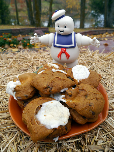 Pumpkin Marshmallow Chocolate Chip Cookies (0052)