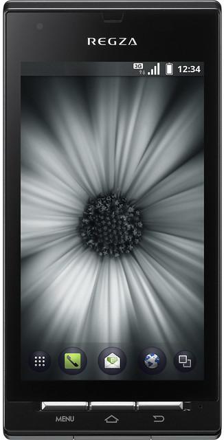 REGZA Phone IS04 実物大の製品画像