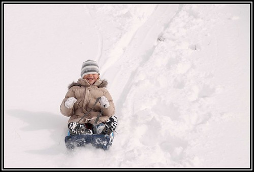 Winter sledging in the morning...