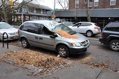 Smashed Van on Ridge Blvd.