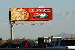 Rosati's Pizza billboard - Santan Freeway Loo…