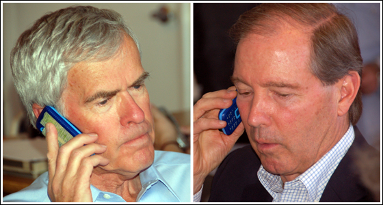 New Mexico Senators Jeff Bingaman and Tom Udall are getting out the vote for President Obama.