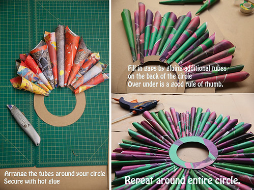 Arrange tube around circle