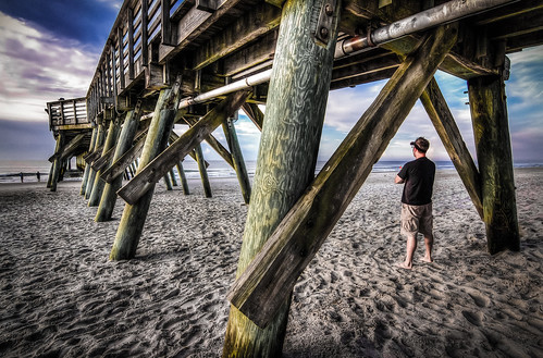 me sunrise myrtlebeach pier wideangle 2012 photomatix 1116mm canon7d tokina1116mmf28 topazdenoise august2012 brycehoover beach2012 3clixpix