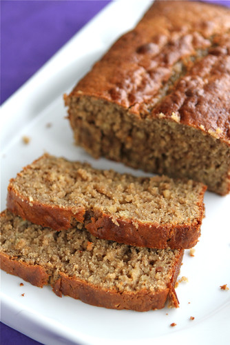 Peanut Butter & Banana Whole Wheat Quick Bread Recipe by Cookin' Canuck