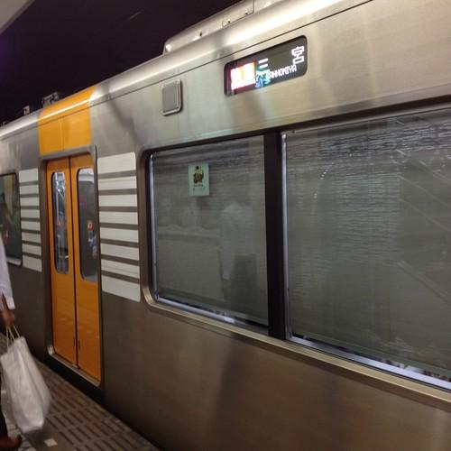 大阪難波駅に阪神電車がいて驚く by haruhiko_iyota