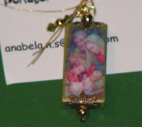 Ink Stains Altered Christmas Charm Swap 012