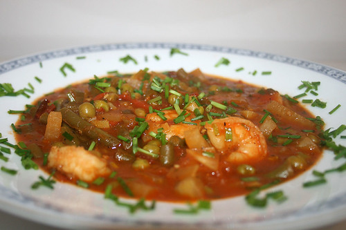 53 - Garnelen-Gemüse-Topf / Prawn vegetable stew - CloseUp