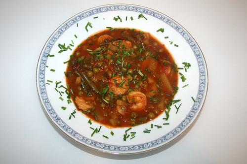 52 - Garnelen-Gemüse-Topf / Prawn vegetable stew - Serviert