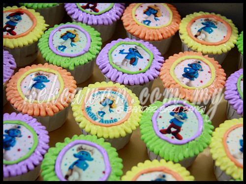 Chocolate Cupcakes with Edible Image