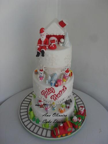 Bolo Natalino by Ana Oliveira Cake Design