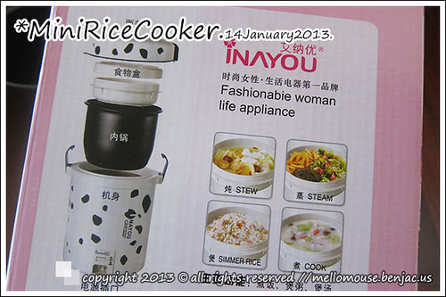 Inayou Mini Rice Cooker.