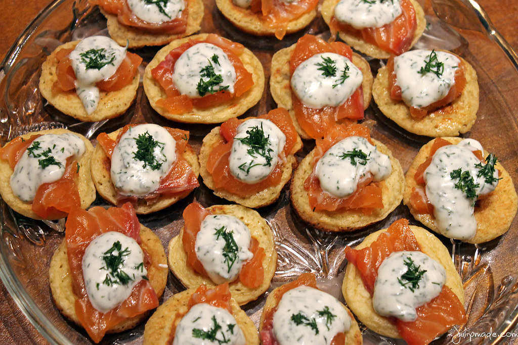 Julip Made salmon blini quick bites