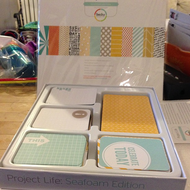 Look what was on my doorstep this morning! #projectlife #scrapbooking #seafoam