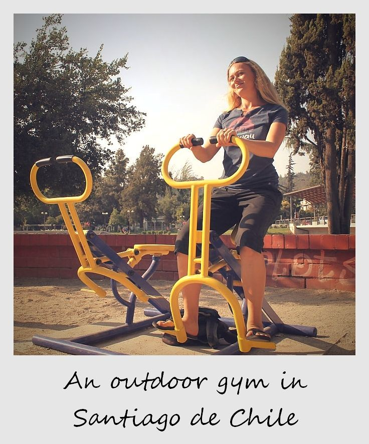 polaroid of the week chile santiago outdoor gym