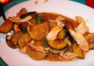 Stir Fried Eggplant with Chicken