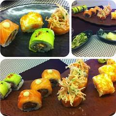 Flying salmon, green lotus, naked, geisha for dinner