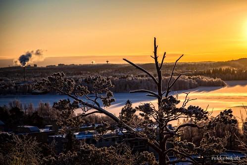 winter snow cold sunrise finland frost lumi talvi tampere pyynikki auringonnousu pakkanen
